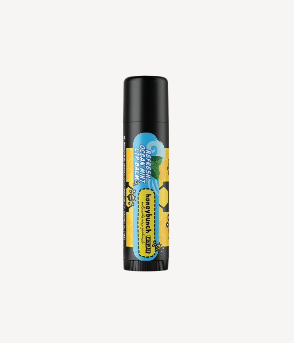 Honey bunch naturals manuka honey lip balm refresh ocean mint