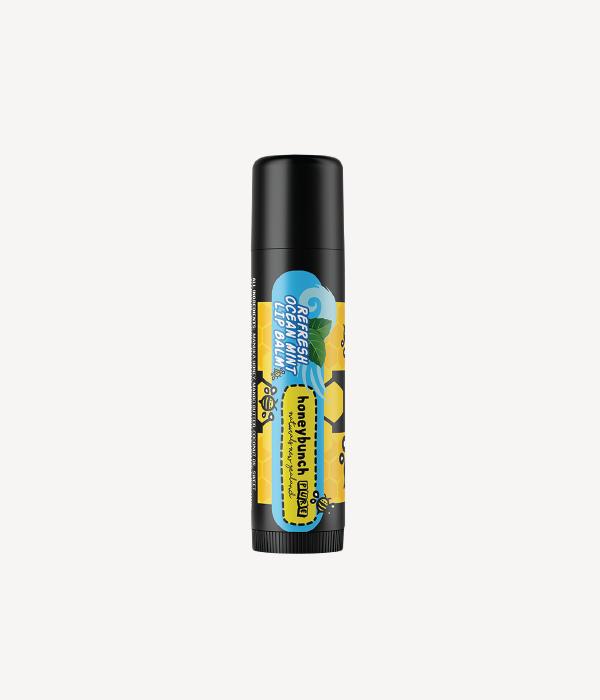 Honey bunch naturals manuka honey lip balm refresh ocean mint