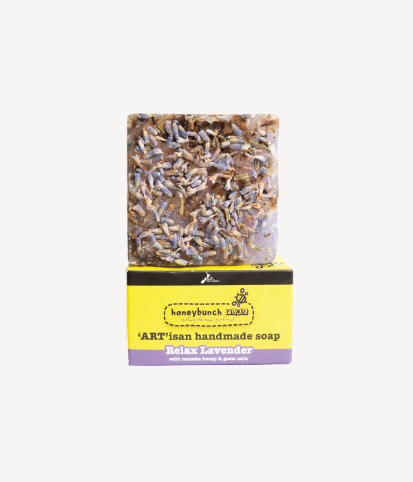 Artisan soap manuka honey with relax lavender honey bunch naturals